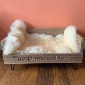 walnut handcrafted dog bed