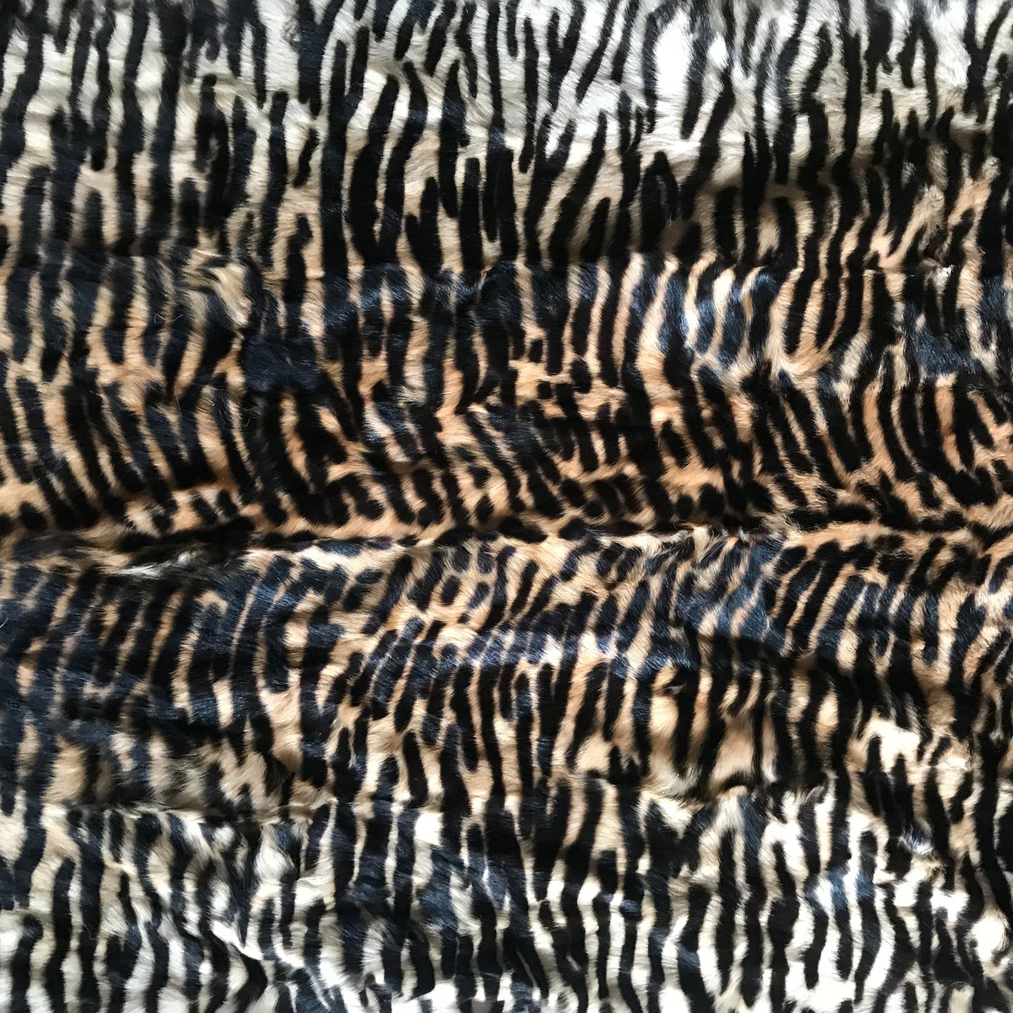 Animal Print Upholstered Bench (Goat's Fur)