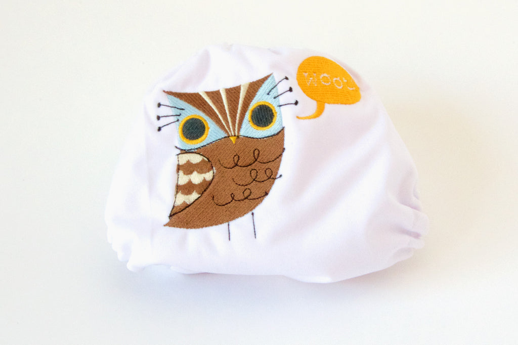 Woot embroidered 1-Size Diaper (Snaps)
