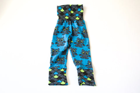 Blue Toothless Grow-With-You Pants (1-4 Yrs)