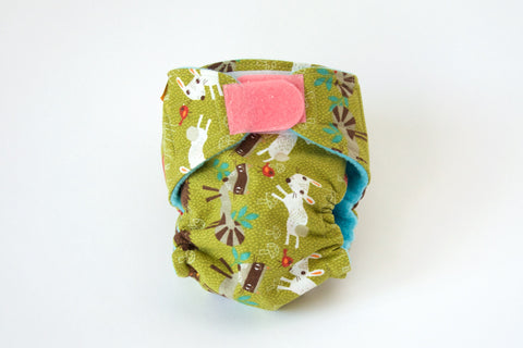 Fox Pattern Medium PUL Diaper (Hook & Loop)