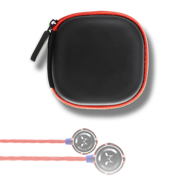 SoundMAGIC Earphone Hard Case - Black & Red - SoundMAGICheadphones.com