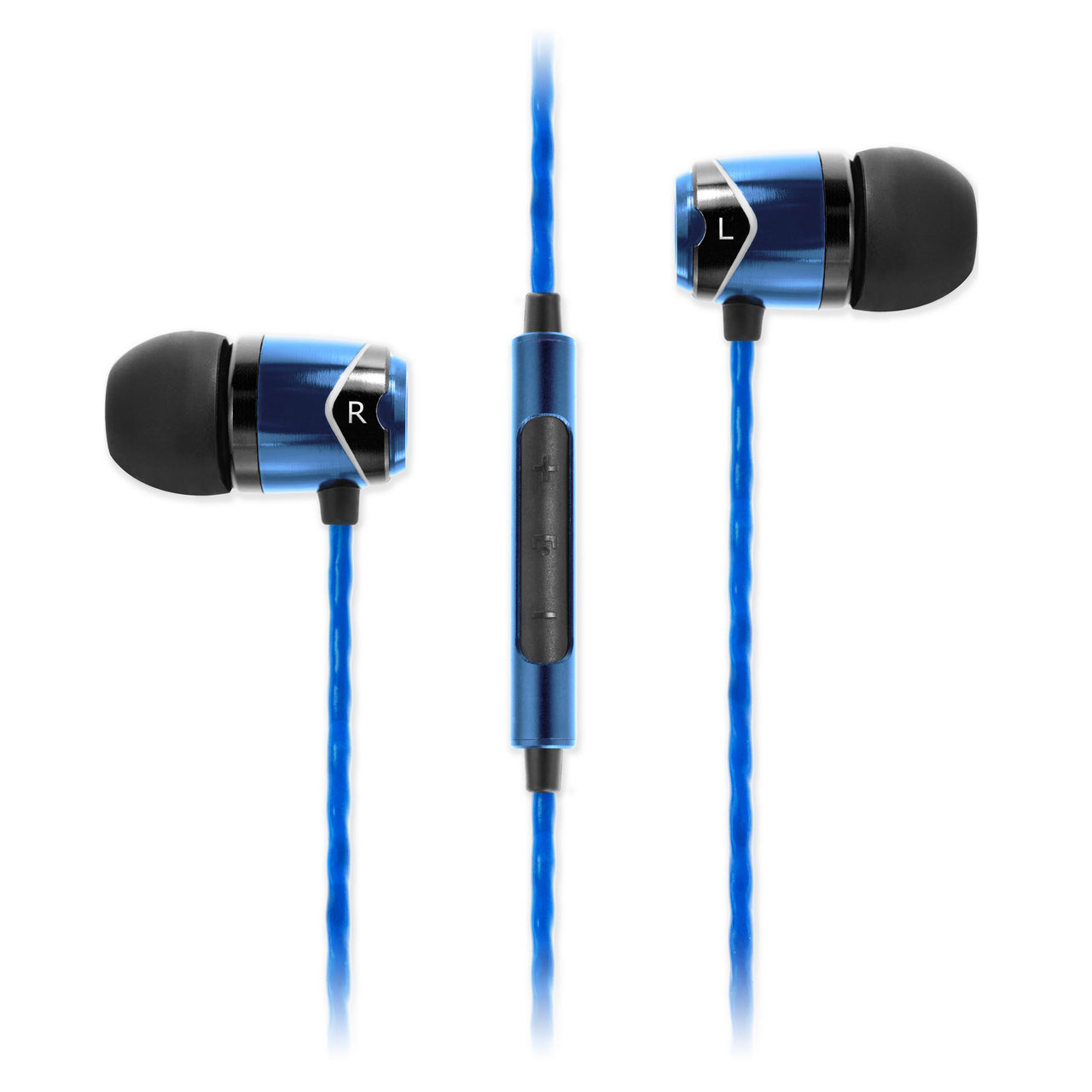 SOUNDMAGIC E10C IN EAR ISOLATING EARPHONES WITH MIC, BLUE - Refurbished
