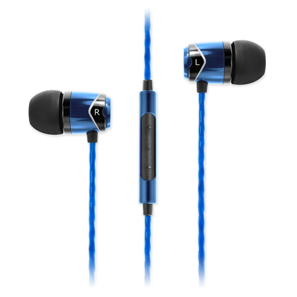 SoundMAGIC E10C In Ear Isolating Earphones with Mic, Blue