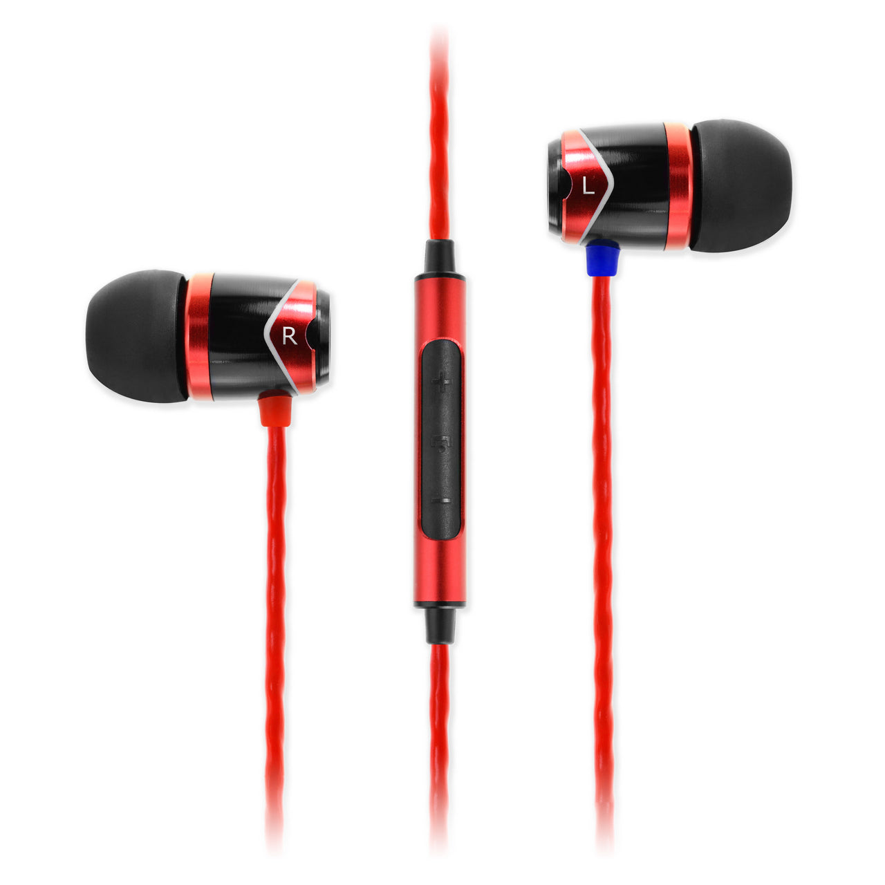 SOUNDMAGIC E10C IN EAR ISOLATING EARPHONES WITH MIC, RED - Refurbished
