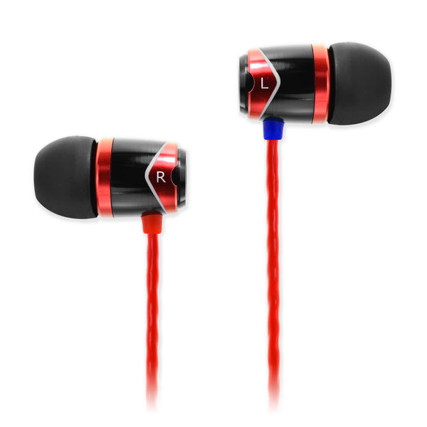 SOUNDMAGIC E10 IN EAR ISOLATING EARPHONES, RED - Refurbished