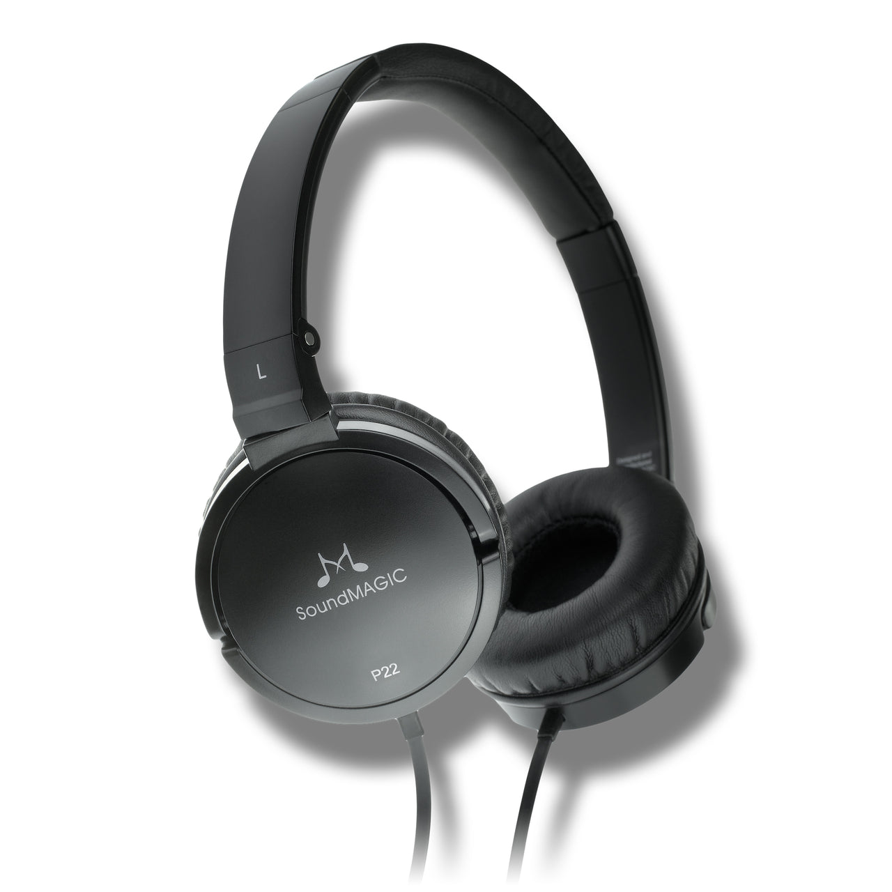 SoundMAGIC P22 Portable Headphones - Black - SoundMAGICheadphones.com