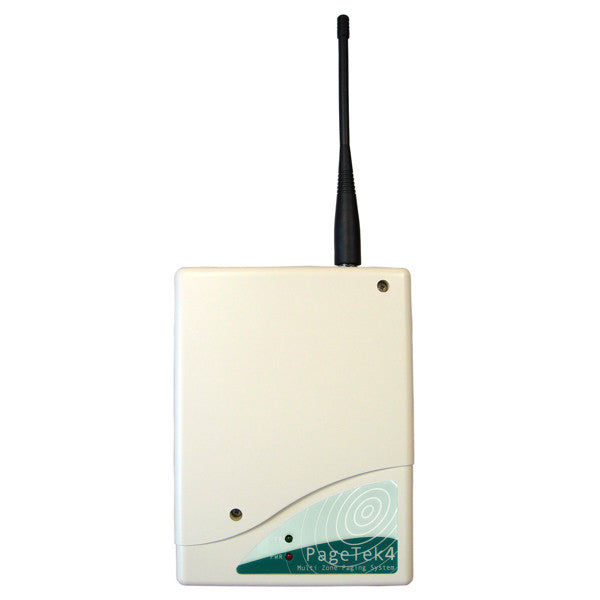 image of pagetek 4 on-site paging 12VDC battery powered transmitter