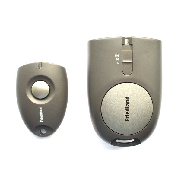 image of wirefree personal pager and keyfob push