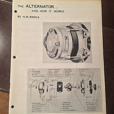 """The Alternator & How it Works""  booklet."