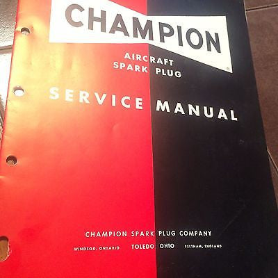 Champion Aircraft Spark Plug Service Manual.