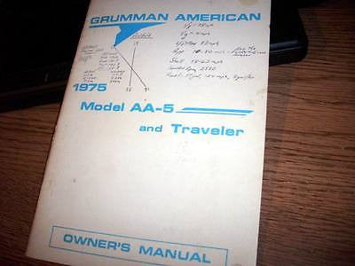 1975 Grumman American AA-5 and Traveler Owner's Manual.
