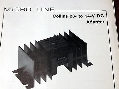 Collins 28-14 Power Adapter Install & Service Manual.