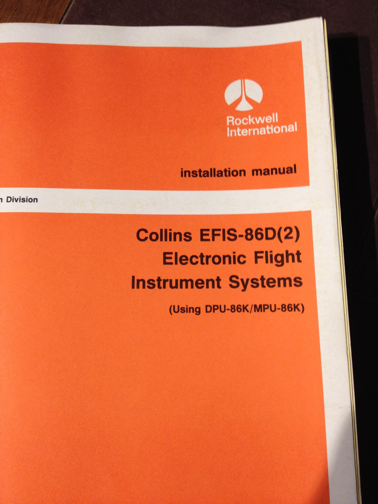 Collins EFIS-86D(2) Install Manual for Electronic Flight Instrument Systems using DPU-86K/MPU-86K
