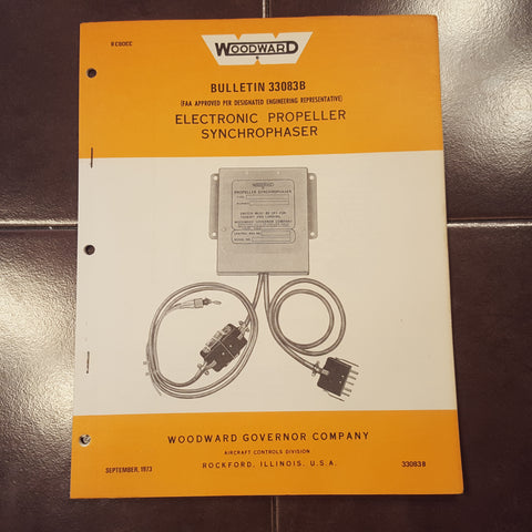 Woodward Electronic Propeller Synchrophaser service manual.