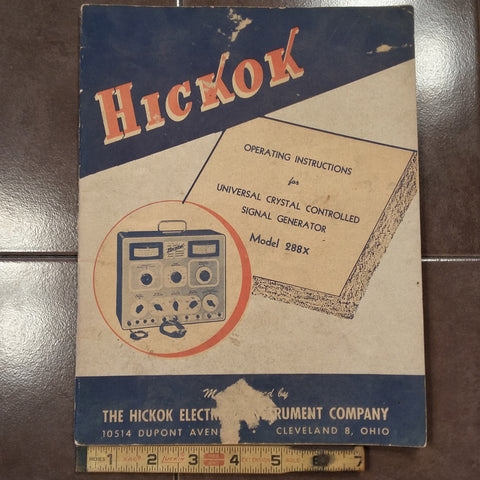 Hickok Signal Generator 288X Operating Manual.