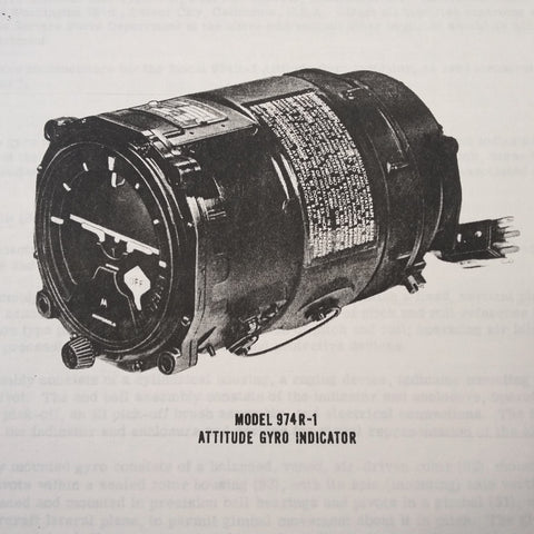 Motorola Model 974R-1 Attitude Gyro Overhaul Manual aka 1U96245.  Circa 1961.