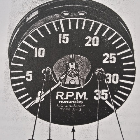Weston Type E-12 Electrical Tachometer Service, Ohc & Parts Manual. Circa 1944, 1952.