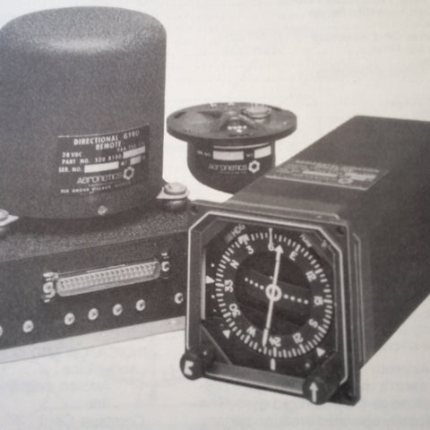 Aeronetics 8000 HSI Compass System Install, Service &  Parts Manual for 8100 DG, 8130 HSI, & 8140.