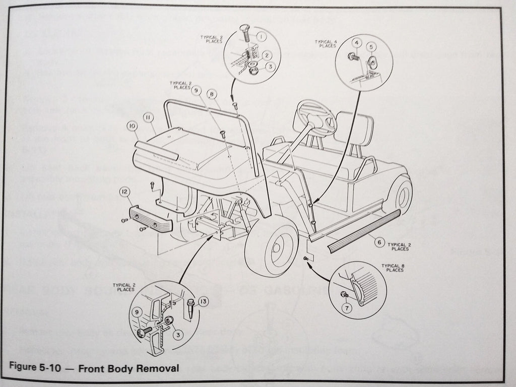 1994 DS Golf Cars Club Car  Service Manual.