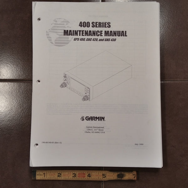 400 Series GPS-400, GNC 420 and GNS-430 Garmin Maintenance Manual. on