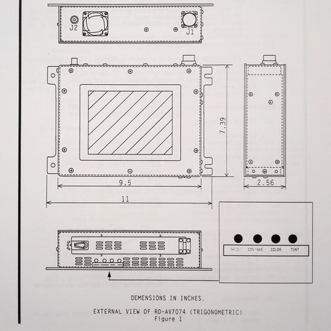 "Matsushita 7"" Monitor RD-AV7074 Component Maintenance Parts Manual."