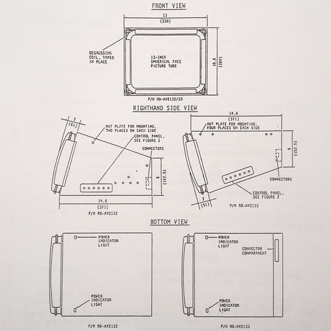 "Matsushita 13"" Monitor RD-AV2132, RD-AV2133 Series Maintenance Parts Manual."
