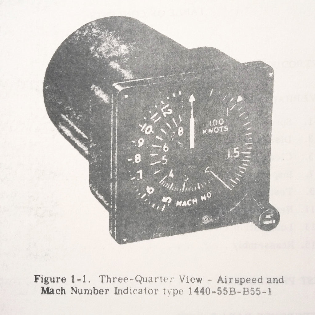 Bendix Pioneer Airspeed Mach Number Indicator 1440 & 1450 Series Overhaul Manual.