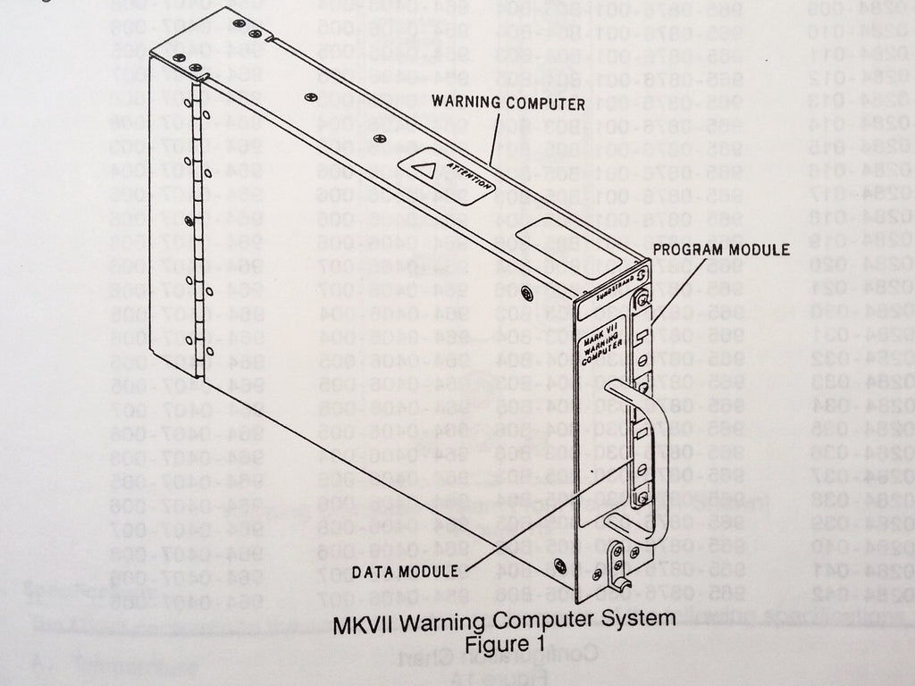 Sundstrand MKVII Warning Computer System 960-0284 Component Maintenance Manual.