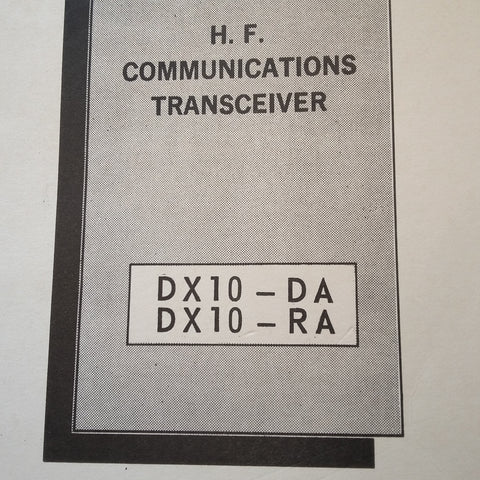 Pantronics DX10-DA and DX10-RA Install & Service Manual.