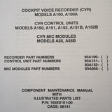 L3 Communications A100 & A100A Cockpit Voice Recorder Service & Parts Manual.
