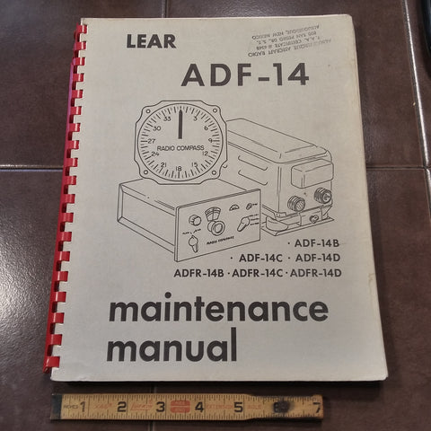 Lear ADF-14 Series Maintenance Parts Manual. Circa 1950s, 1960s.