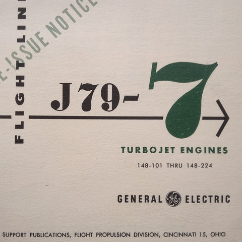 GE J79-7 Engine Flight Line Reference Handbook.