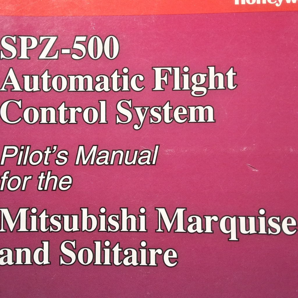 Honeywell SPZ-500 AFCS in Mitsubishi Marquise & Solitaire Pilot's Manual.