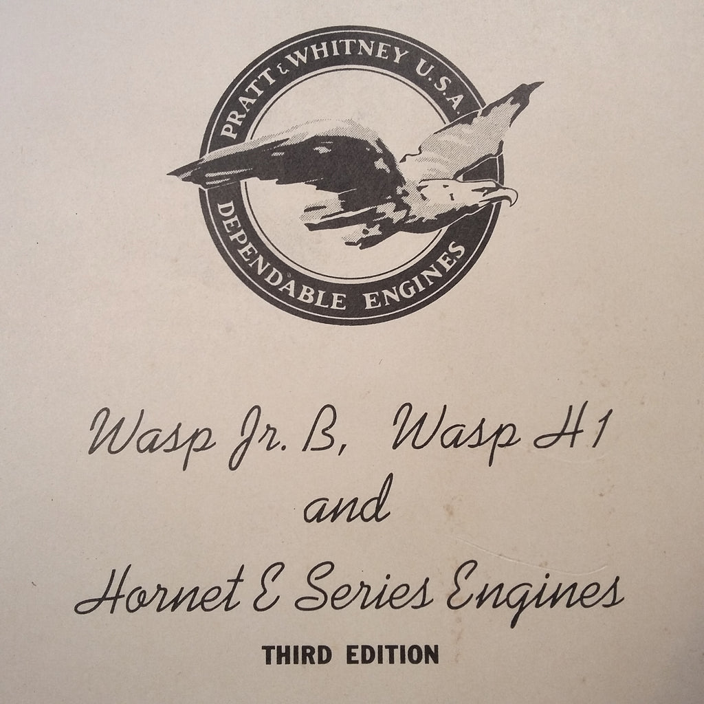 Pratt Whitney Wasp Jr. B, Wasp H1 and Hornet E Engine Overhaul Manual.