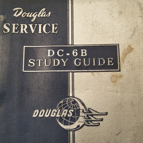 Original Douglas DC-6B Service Training Study Guide Manual.