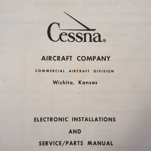 Factory Wiring Book 1963-1966 Cessna All Single Engine & SkyMasters.