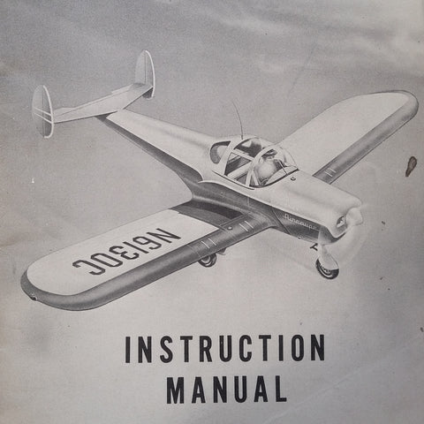 Original Forney Aircoupe Model F-1 Instruction Manual.