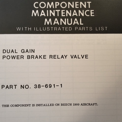 Crane Dual Gain Power Brake Relay Valve 38-691-1 Service Parts Manual.