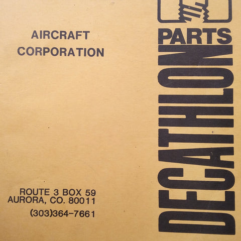 Bellanca Decathlon 8KCAB Parts Manual.