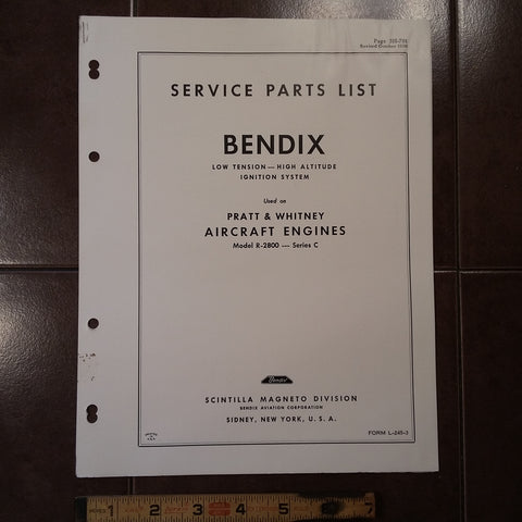 1950 Bendix Low Tension High Altitude Ignition System on Pratt R-2800-C Parts Manual.