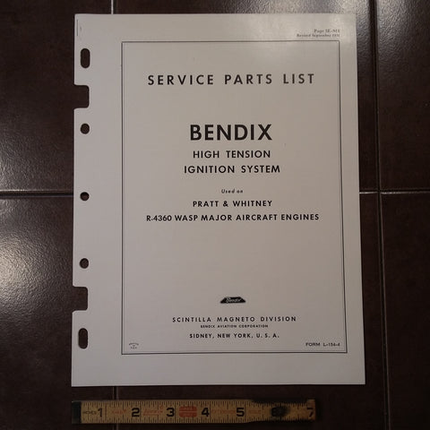 1951 Bendix Scintilla Ignition on Pratt & Whitney R-4360 WASP MAJOR Parts Manual.