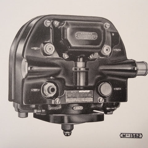 1949 Bendix Scintilla DF18LN-1 Magneto Service Instructions Booklet.