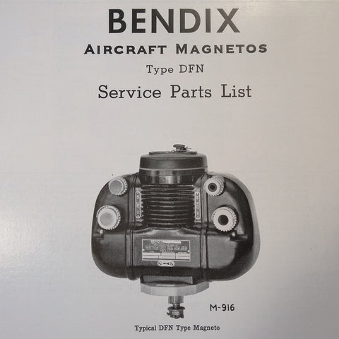 1951 Scintilla DFN Magneto Parts Booklet.