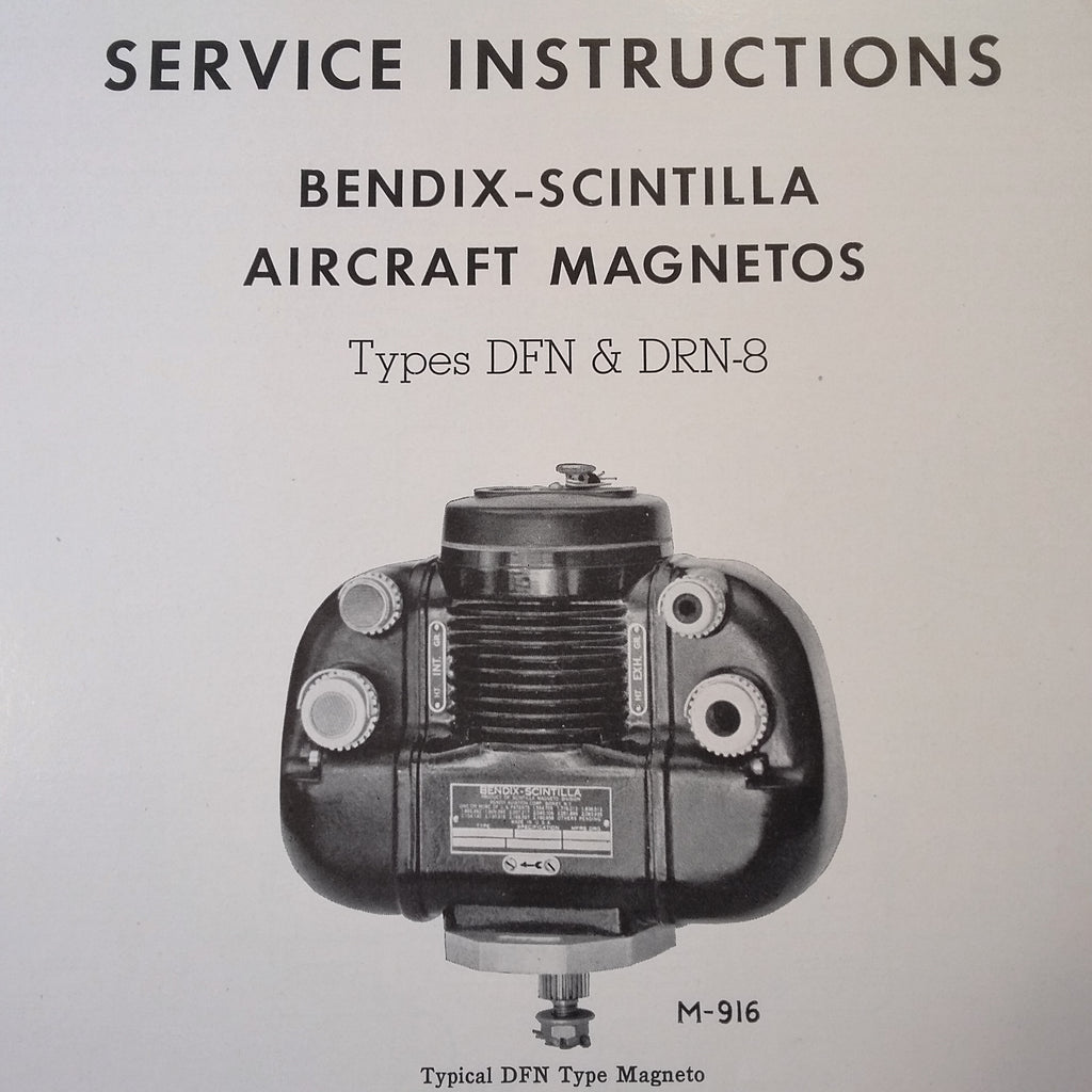 1946 Scintilla DFN & DRN-8 Magneto Service Instructions Booklet.