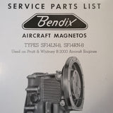 1950 Bendix Scintilla Magnetos SF14LN-8 and SF14RN-8 as used on P&W R-2000 Parts Booklet