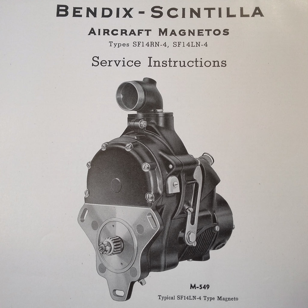 1942 Scintilla Magnetos SF14RN-4 & SF14LN-4 Service Instructions Booklet.