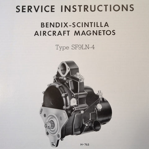 1942 Scintilla Magnetos SF9LN-4 Service Instructions Booklet.