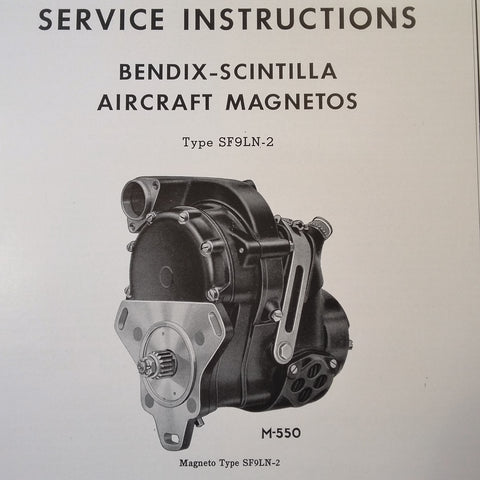 1946 Scintilla Magnetos SF9LN-2 Service Instructions Booklet.