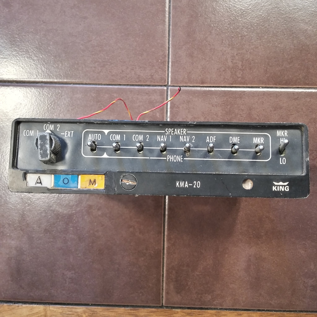 King KMA-20 Audio Panel with Marker Beacon 066-1024-03.